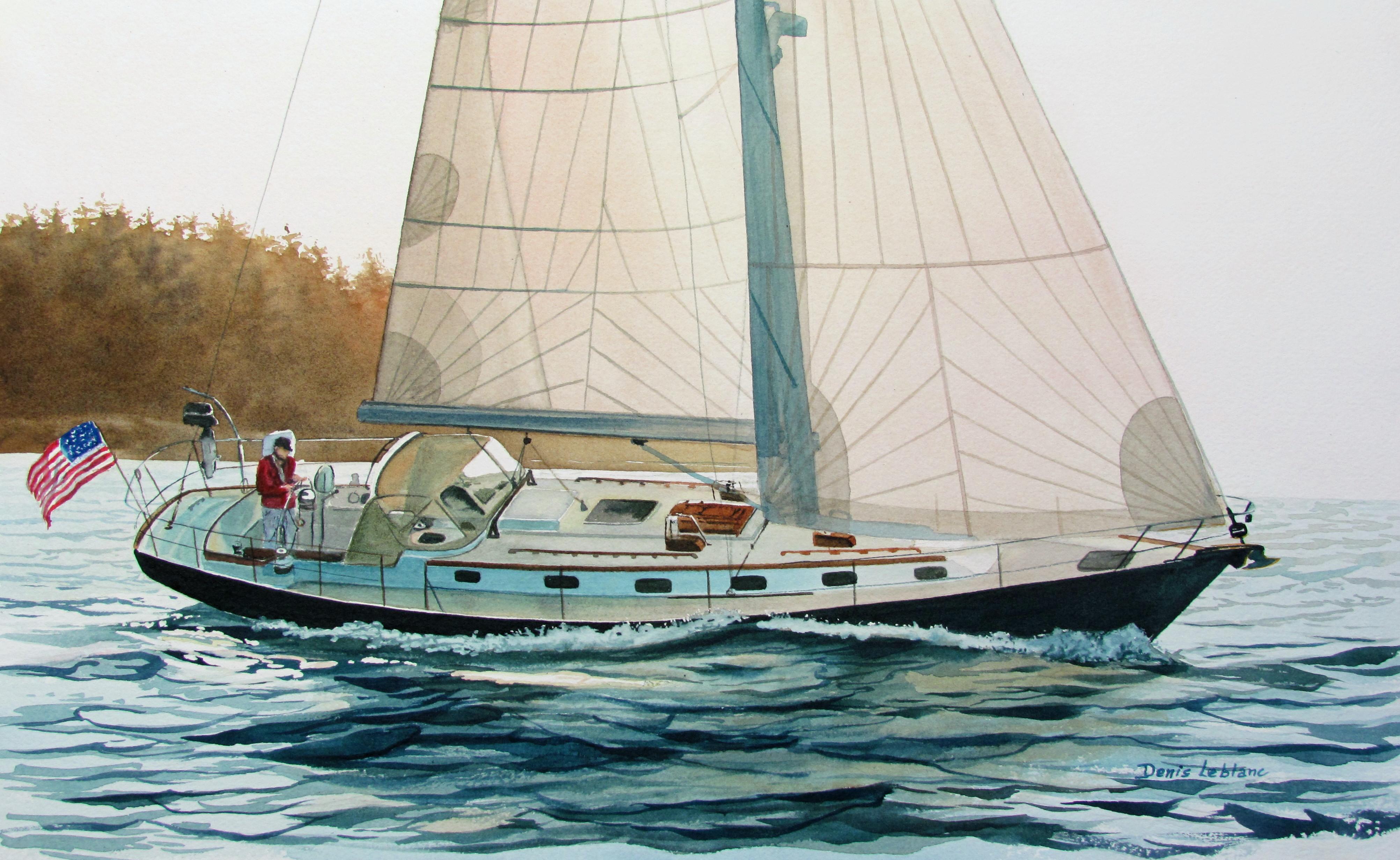 Dennis Leblanc - A Morris At Sail